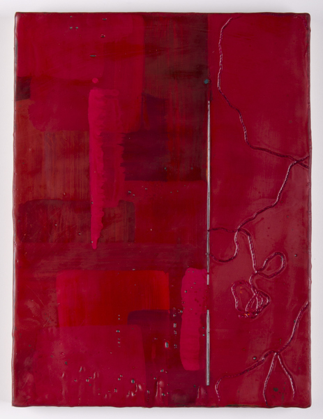 Trapunto di Colore 7, 9x12, encaustic, oil stick on birch panel