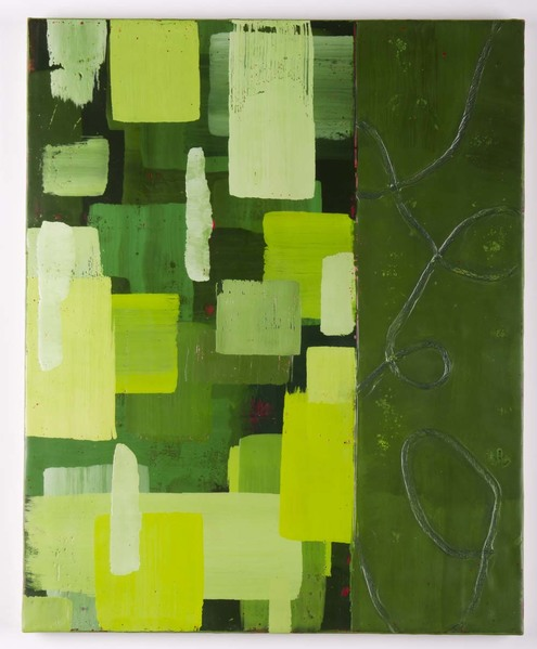 Trapunto di Colore 8, 16x20, encaustic, oil stick on birch panel