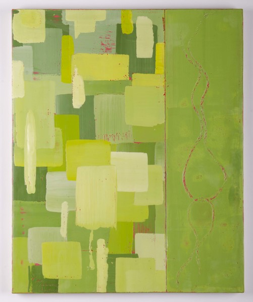Trapunto di Colore 9, 16x20, encaustic, oil stick on birch panel